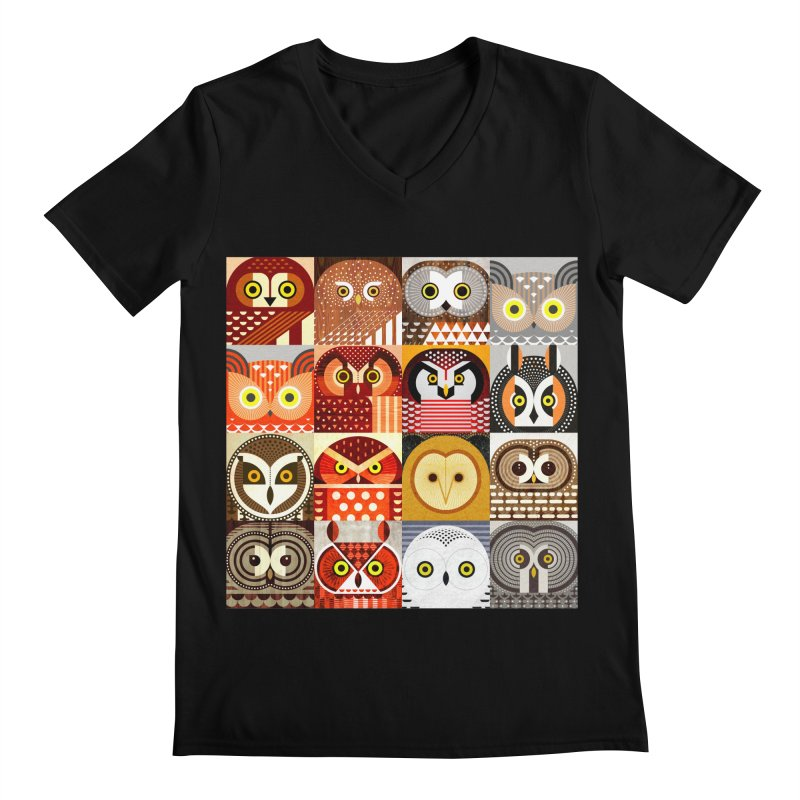 North American Owls Men's V-Neck by scottpartridge's Artist Shop