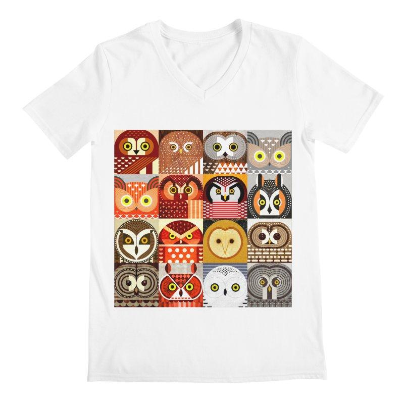 North American Owls Men's V-Neck by scottpartridge's Artist Shop