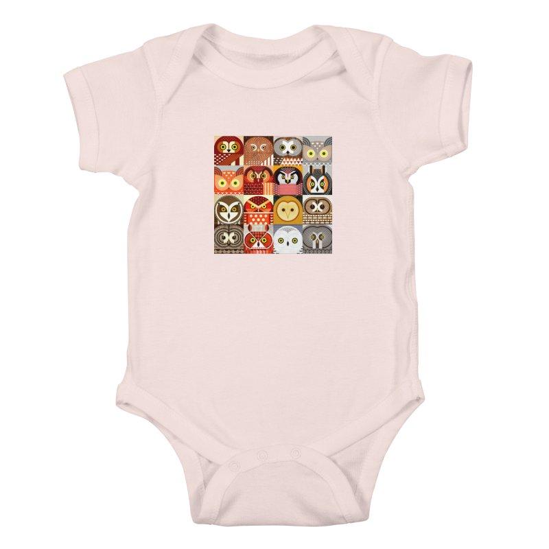 North American Owls Kids Baby Bodysuit by scottpartridge's Artist Shop
