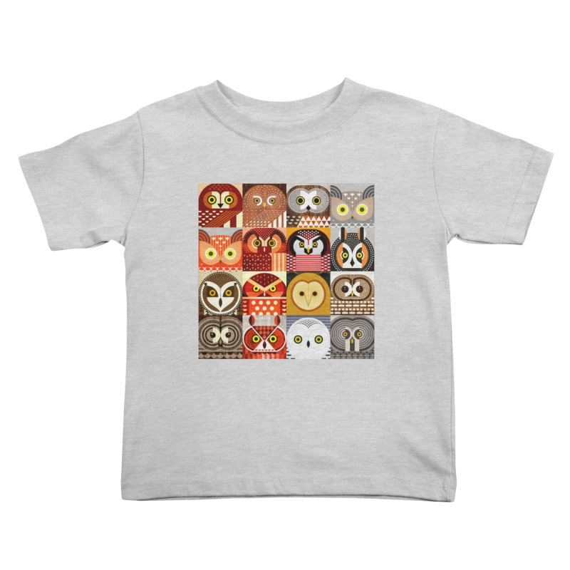 North American Owls Kids Toddler T-Shirt by scottpartridge's Artist Shop