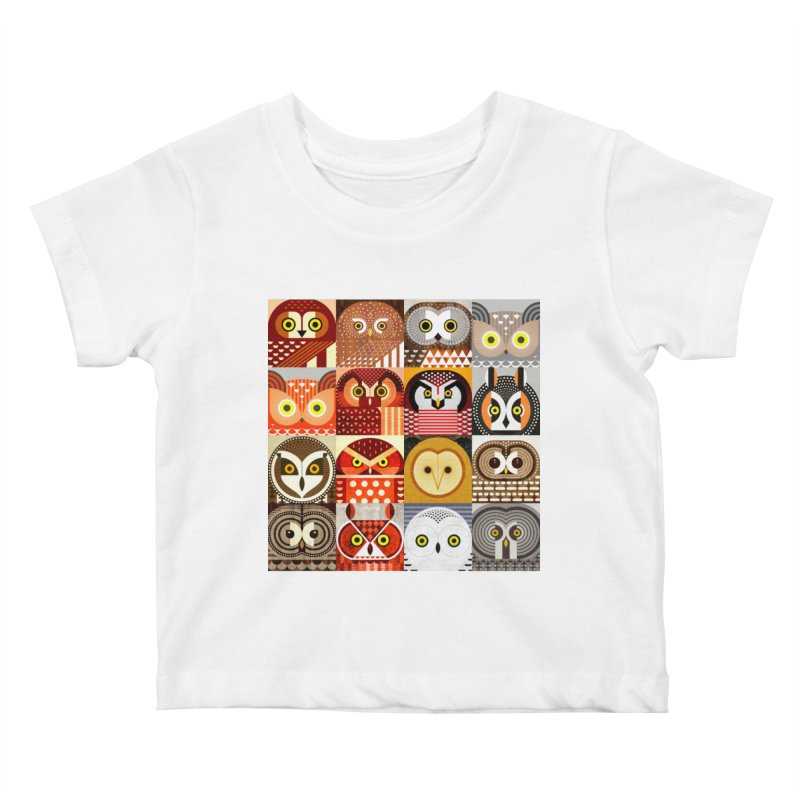 North American Owls Kids Baby T-Shirt by scottpartridge's Artist Shop