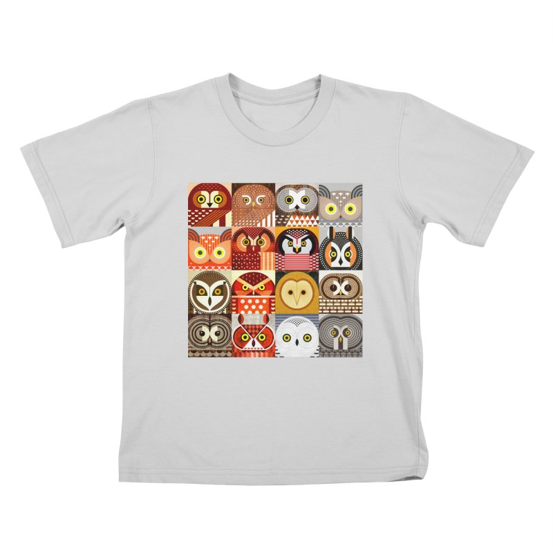 North American Owls Kids T-Shirt by scottpartridge's Artist Shop