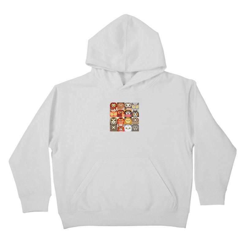 North American Owls Kids Pullover Hoody by scottpartridge's Artist Shop
