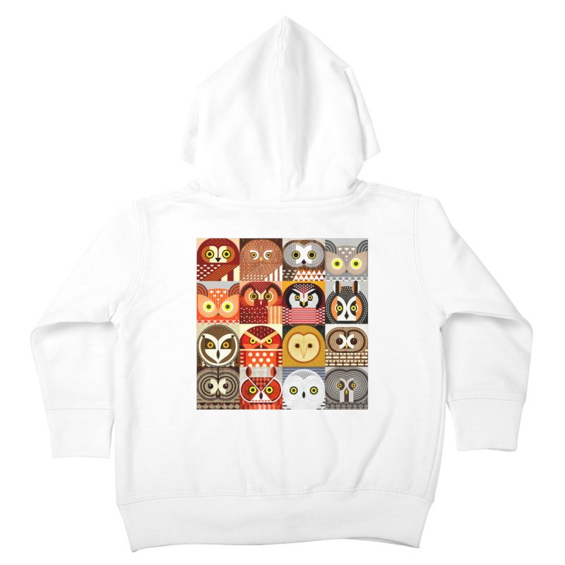 North American Owls Kids Toddler Zip-Up Hoody by scottpartridge's Artist Shop