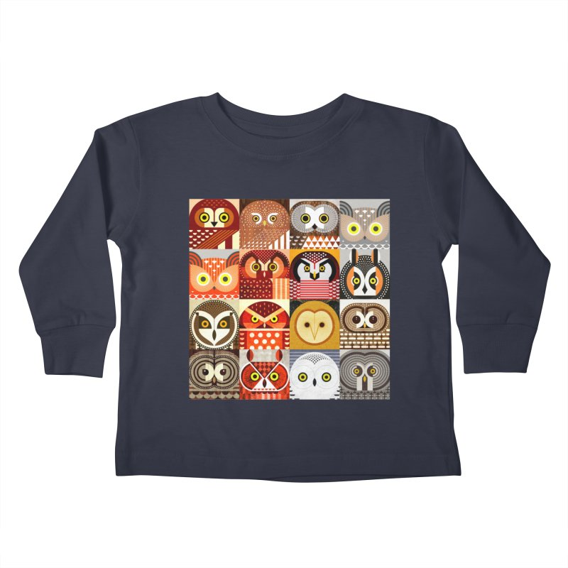 North American Owls Kids Toddler Longsleeve T-Shirt by scottpartridge's Artist Shop