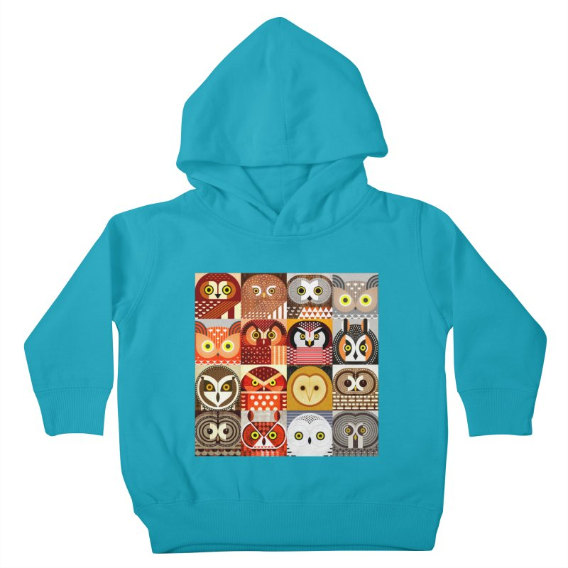 North American Owls Kids Toddler Pullover Hoody by scottpartridge's Artist Shop