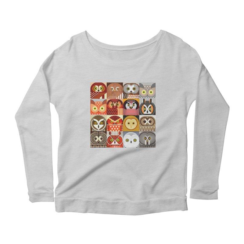 North American Owls Women's Scoop Neck Longsleeve T-Shirt by scottpartridge's Artist Shop