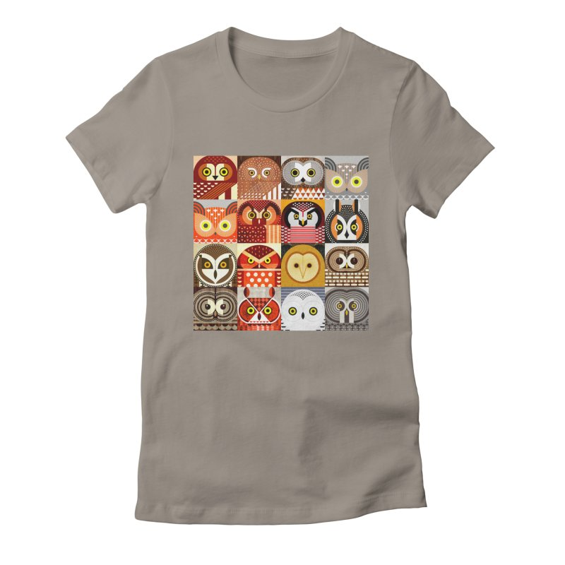 North American Owls Women's Fitted T-Shirt by scottpartridge's Artist Shop