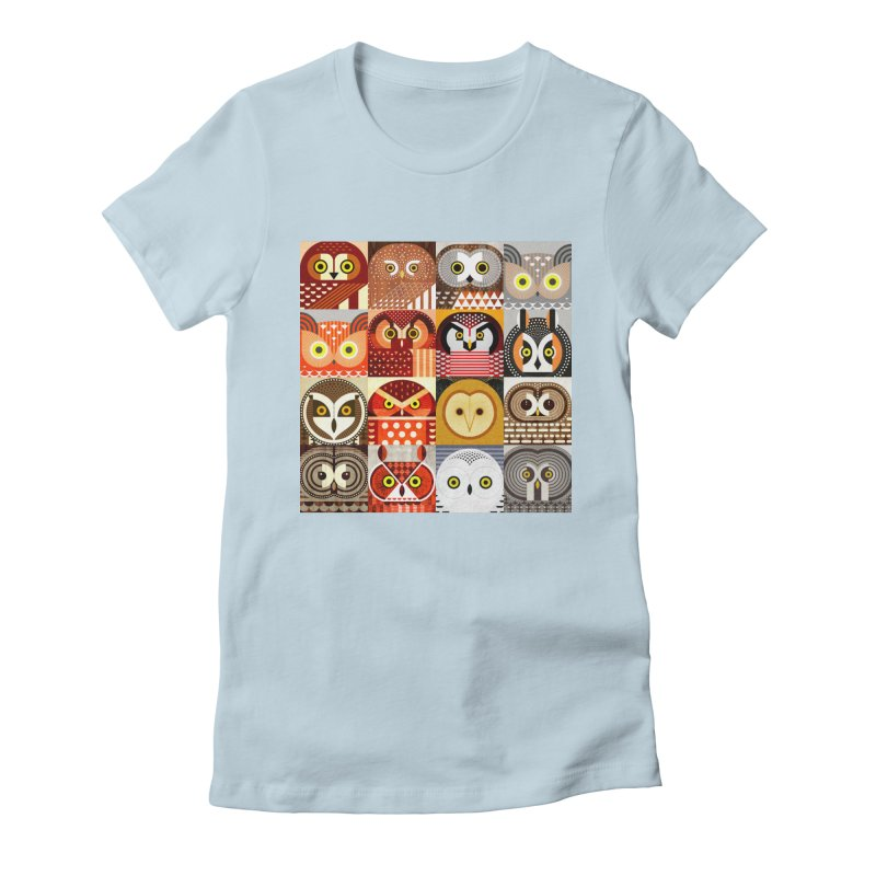 North American Owls Women's T-Shirt by scottpartridge's Artist Shop