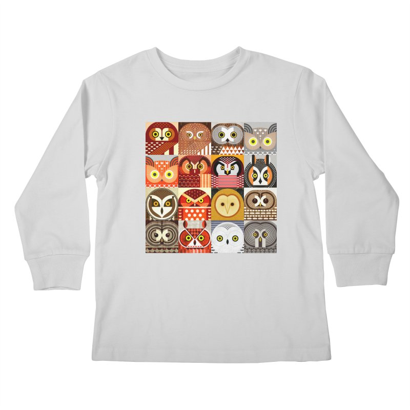 North American Owls Kids Longsleeve T-Shirt by scottpartridge's Artist Shop