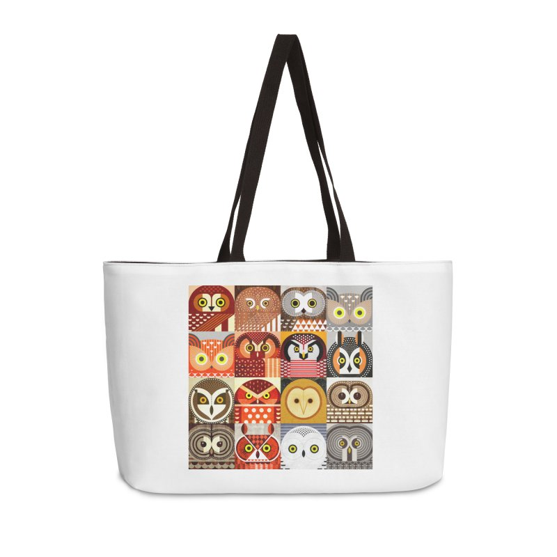 North American Owls Accessories Weekender Bag Bag by scottpartridge's Artist Shop