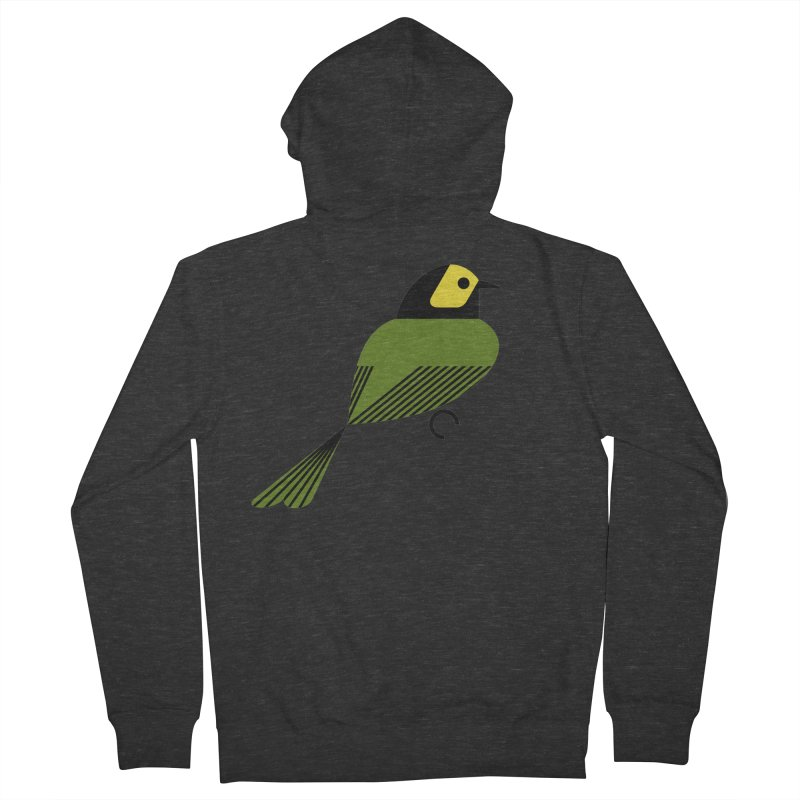 Hooded Warbler Women's French Terry Zip-Up Hoody by scottpartridge's Artist Shop