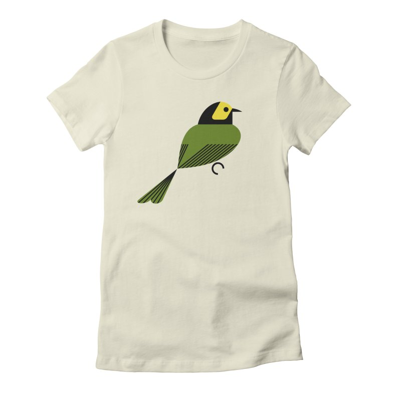 Hooded Warbler Women's Fitted T-Shirt by scottpartridge's Artist Shop