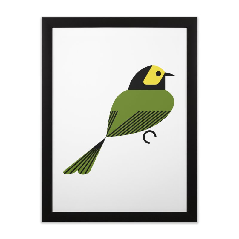 Hooded Warbler Home Framed Fine Art Print by scottpartridge's Artist Shop