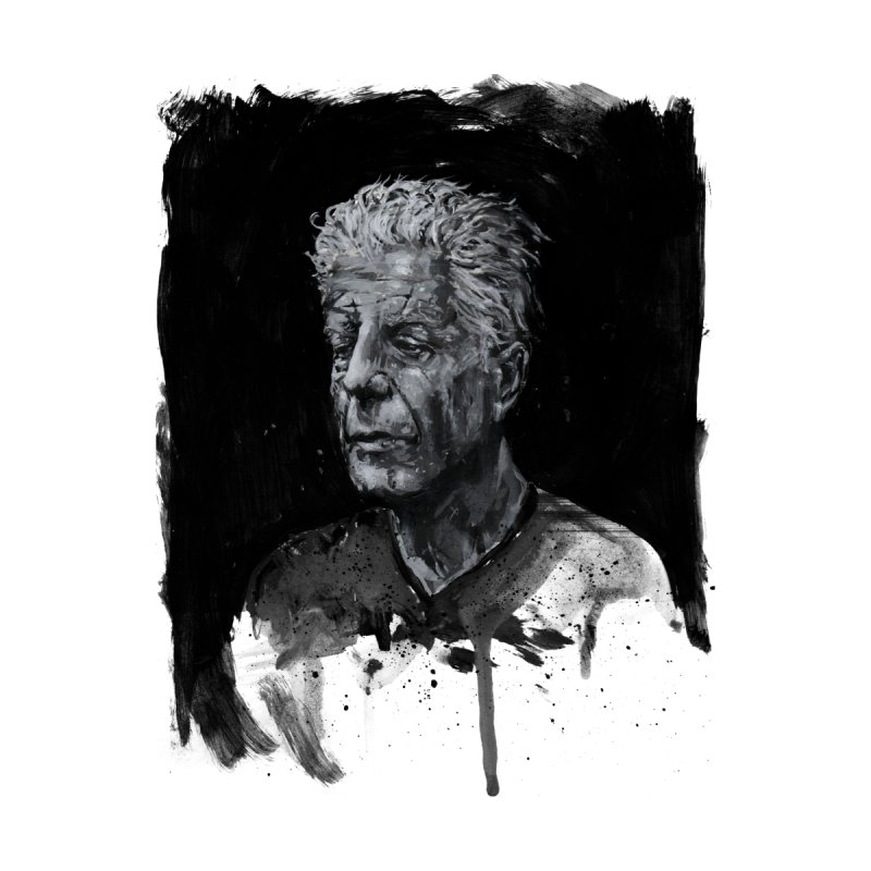 Bourdain Men's T-Shirt by Scott Shellhamer's Artist Shop