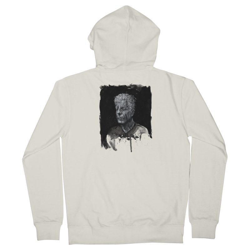 Bourdain Women's Zip-Up Hoody by Scott Shellhamer's Artist Shop