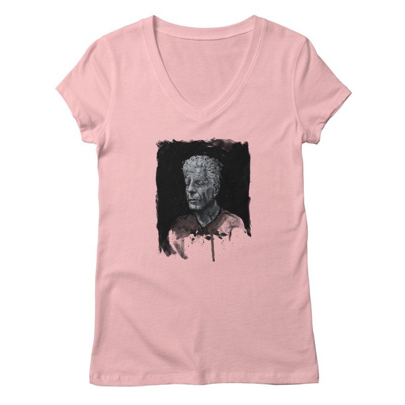 Bourdain Women's V-Neck by Scott Shellhamer's Artist Shop