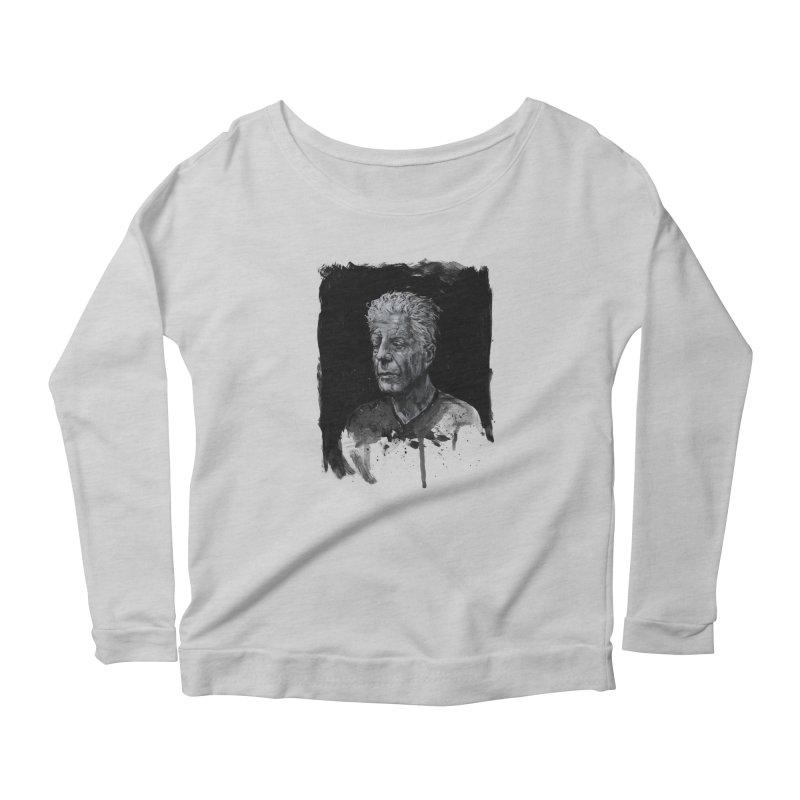 Bourdain Women's Longsleeve T-Shirt by Scott Shellhamer's Artist Shop