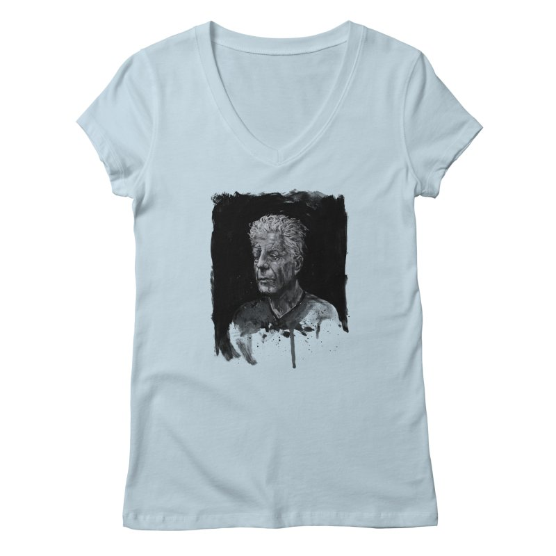 Bourdain Women's V-Neck by Scott Shellhamer's Artist Shop