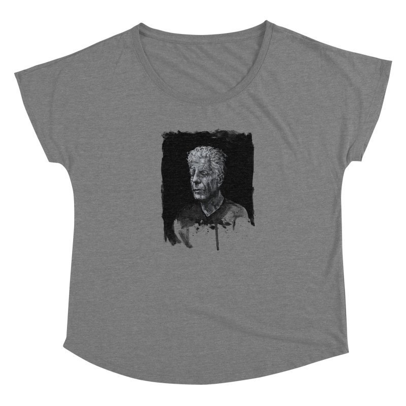 Bourdain Women's Scoop Neck by Scott Shellhamer's Artist Shop