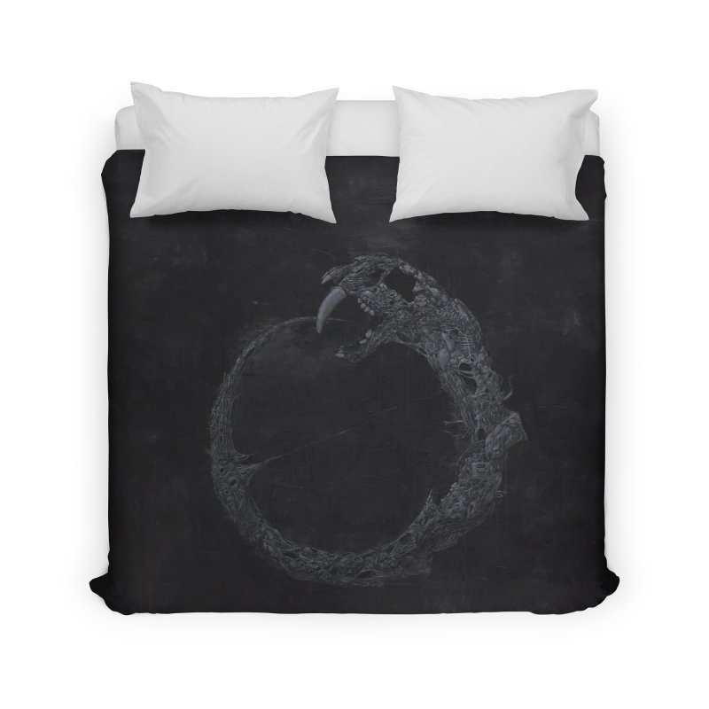 Coffinworm Home Duvet by Scott Shellhamer's Artist Shop