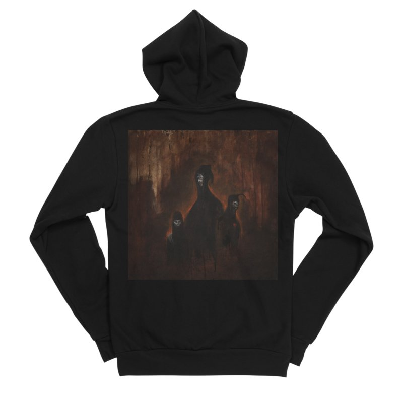 Death Runs in the Family Women's Sponge Fleece Zip-Up Hoody by Scott Shellhamer's Artist Shop