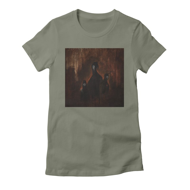 Death Runs in the Family Women's Fitted T-Shirt by Scott Shellhamer's Artist Shop