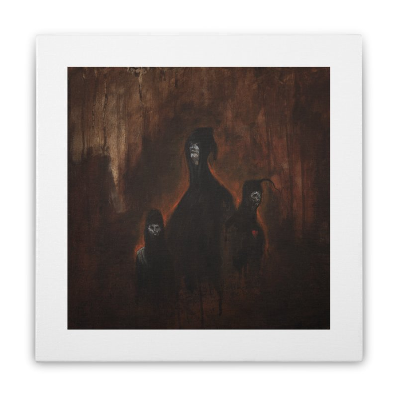 Death Runs in the Family Home Stretched Canvas by Scott Shellhamer's Artist Shop