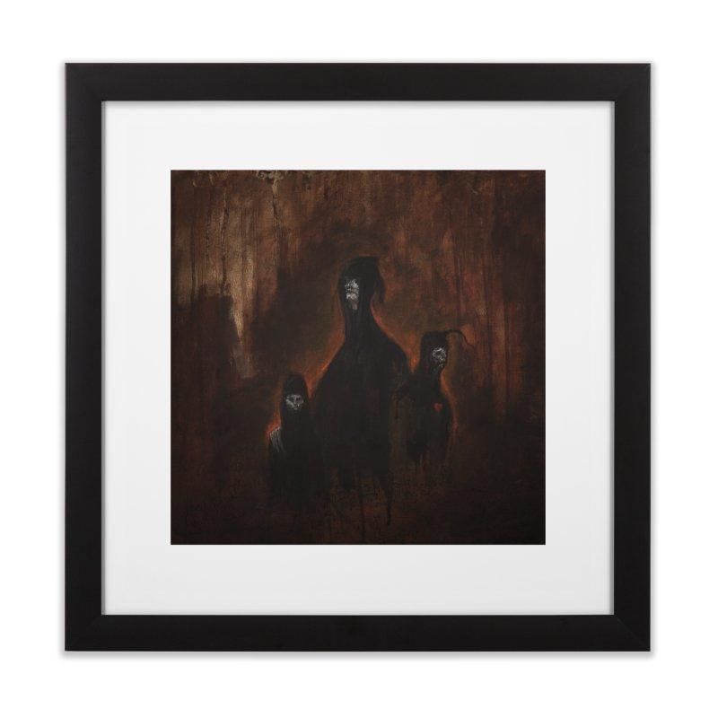 Death Runs in the Family Home Framed Fine Art Print by Scott Shellhamer's Artist Shop