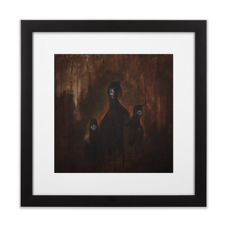 Death Runs in the Family Home Framed Fine Art Print by Scott Shellhamer's Artist Shop