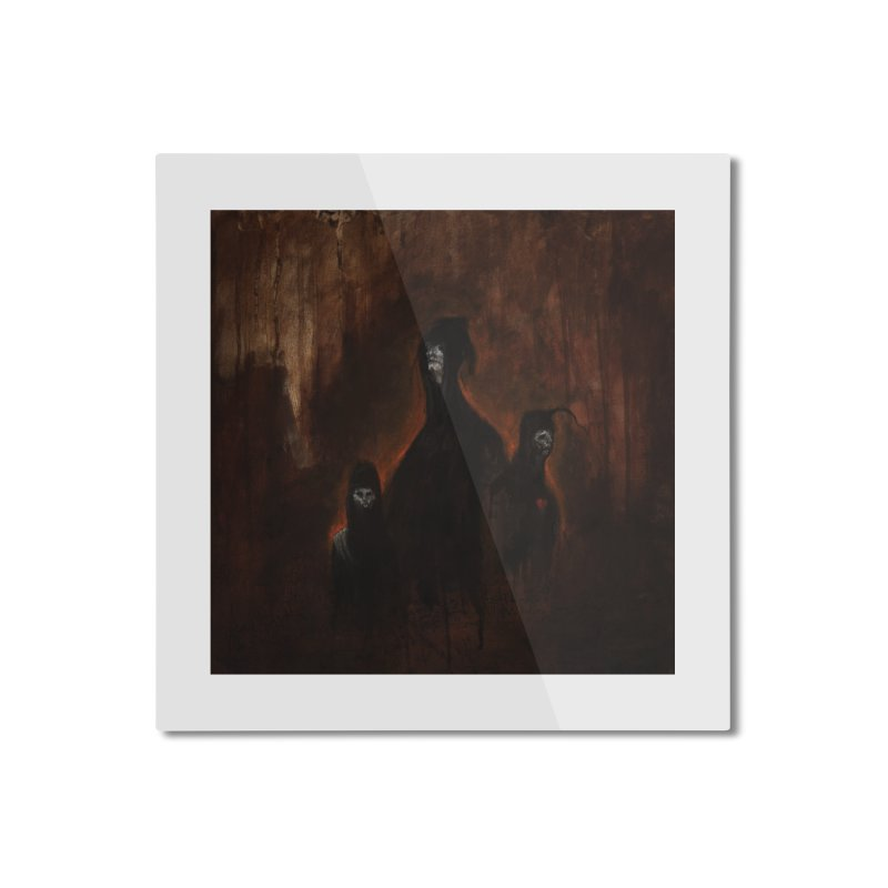 Death Runs in the Family Home Mounted Aluminum Print by Scott Shellhamer's Artist Shop