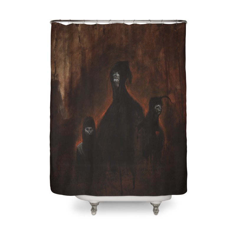 Death Runs in the Family Home Shower Curtain by Scott Shellhamer's Artist Shop