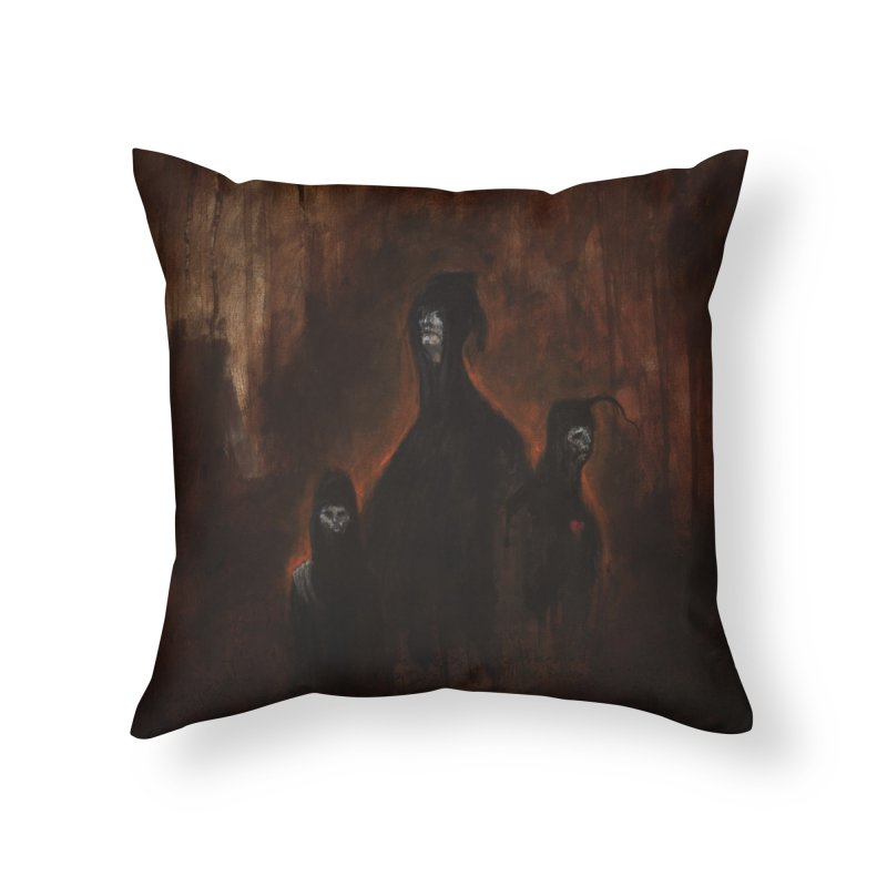 Death Runs in the Family Home Throw Pillow by Scott Shellhamer's Artist Shop