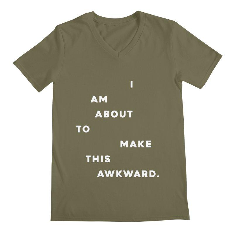 I am about to make this awkward. Men's V-Neck by Scott Shellhamer's Artist Shop