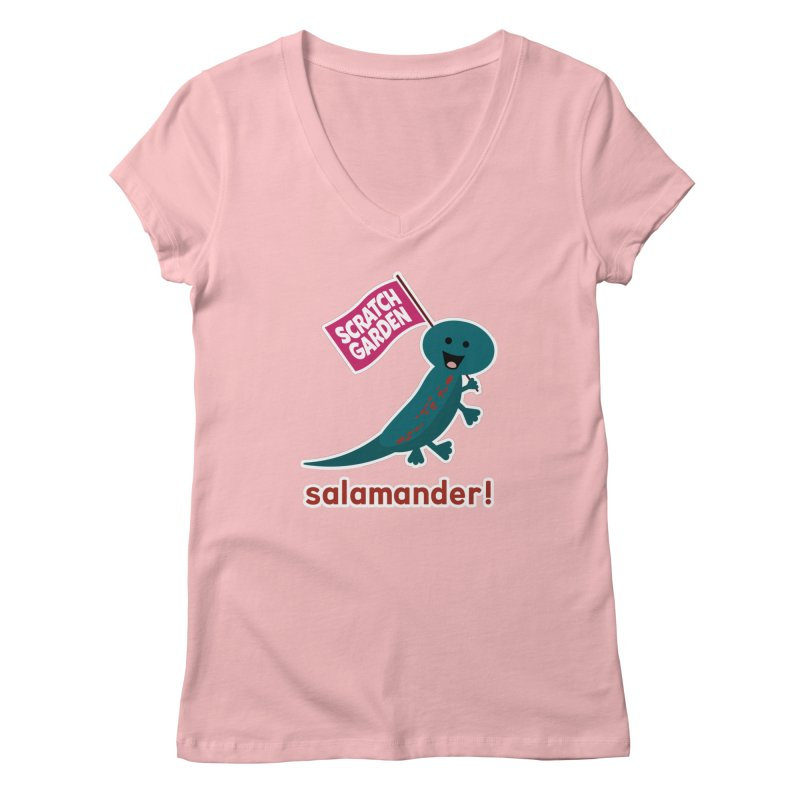 Salamander! Women's Regular V-Neck by Scratch Garden!