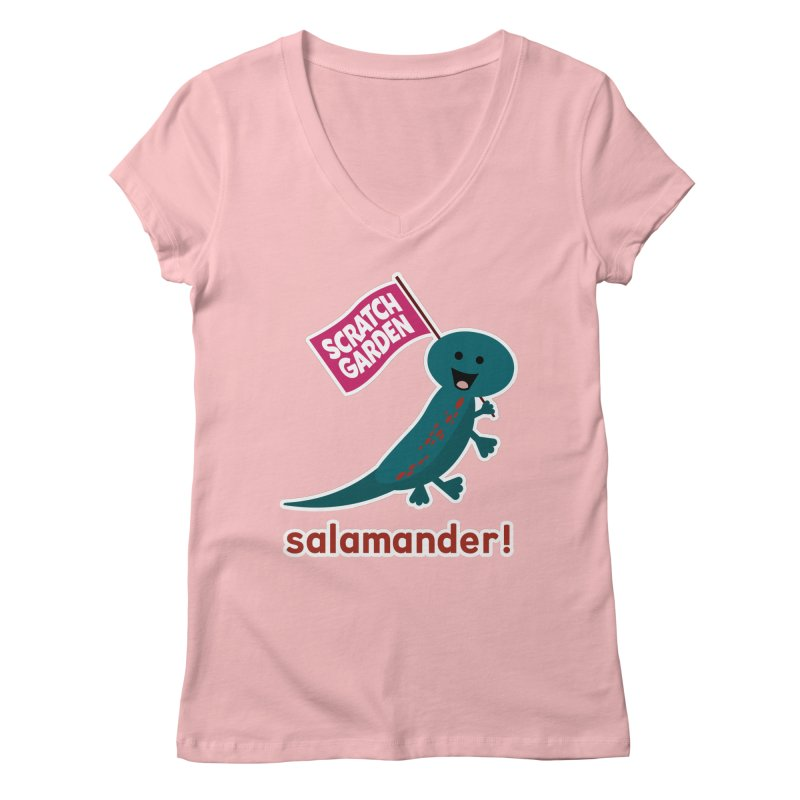 Salamander! Women's V-Neck by Scratch Garden!