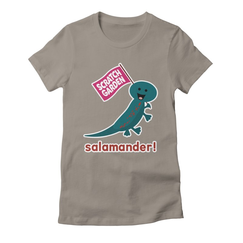 Salamander! Women's Fitted T-Shirt by Scratch Garden!