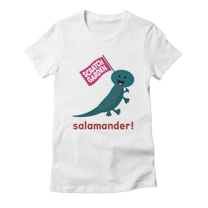 Salamander! Women's Fitted T-Shirt by Scratch Garden!