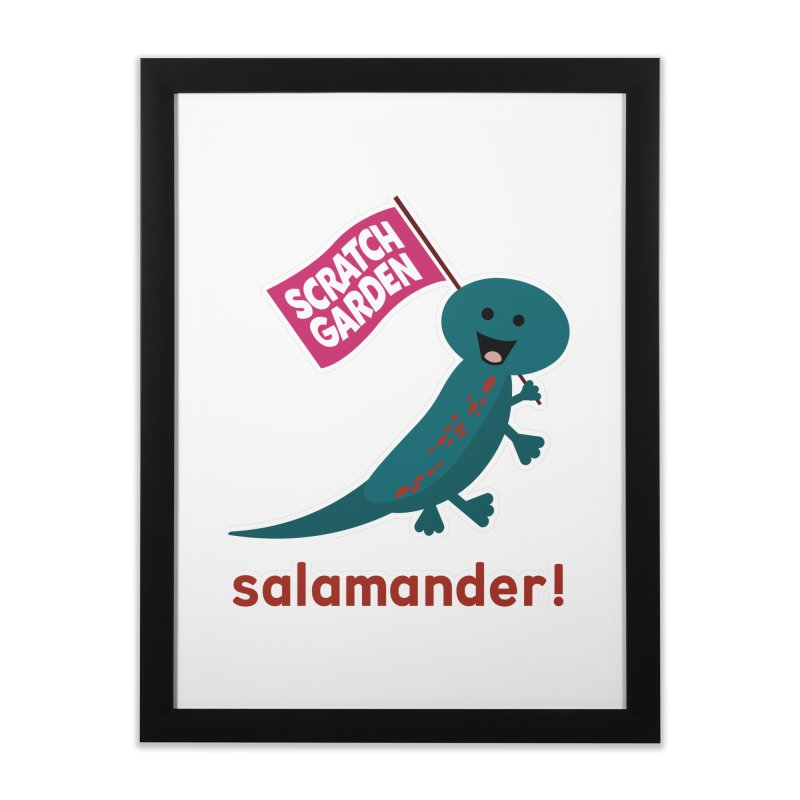 Salamander! Home Framed Fine Art Print by Scratch Garden!