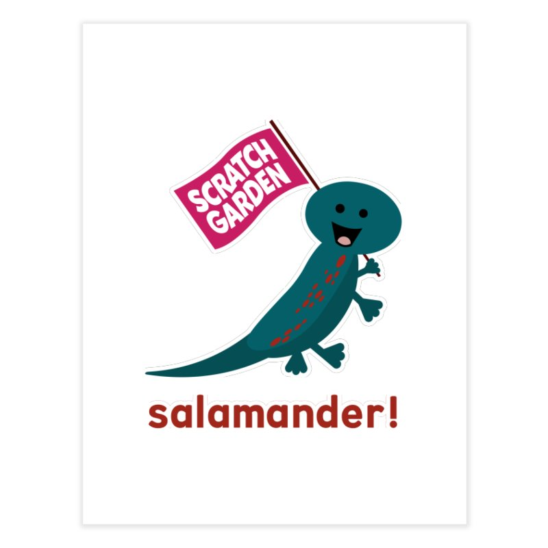Salamander! Home Fine Art Print by Scratch Garden!