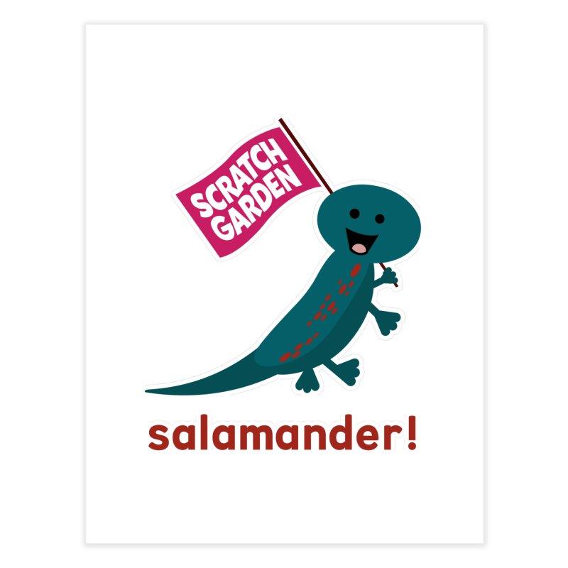 Salamander! Home Fine Art Print by Scratch Garden!