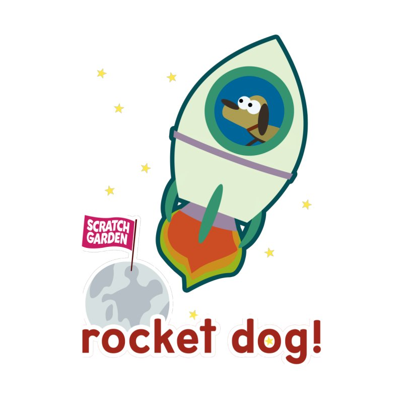 Rocket Dog! Women's V-Neck by Scratch Garden!
