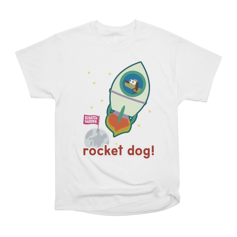 Rocket Dog! Men's Heavyweight T-Shirt by Scratch Garden!