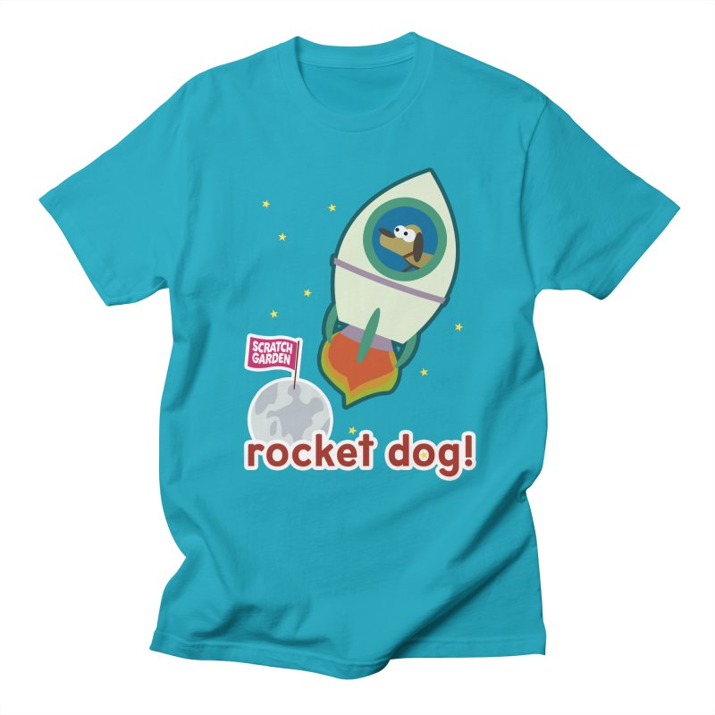 Rocket Dog! Men's Regular T-Shirt by Scratch Garden!