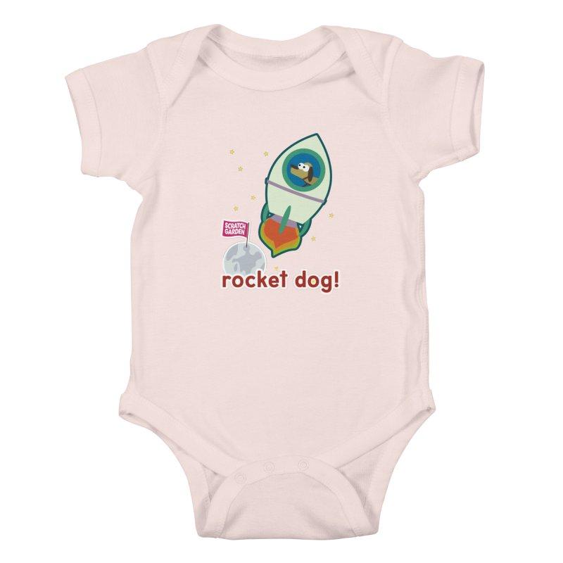Rocket Dog! Kids Baby Bodysuit by Scratch Garden!