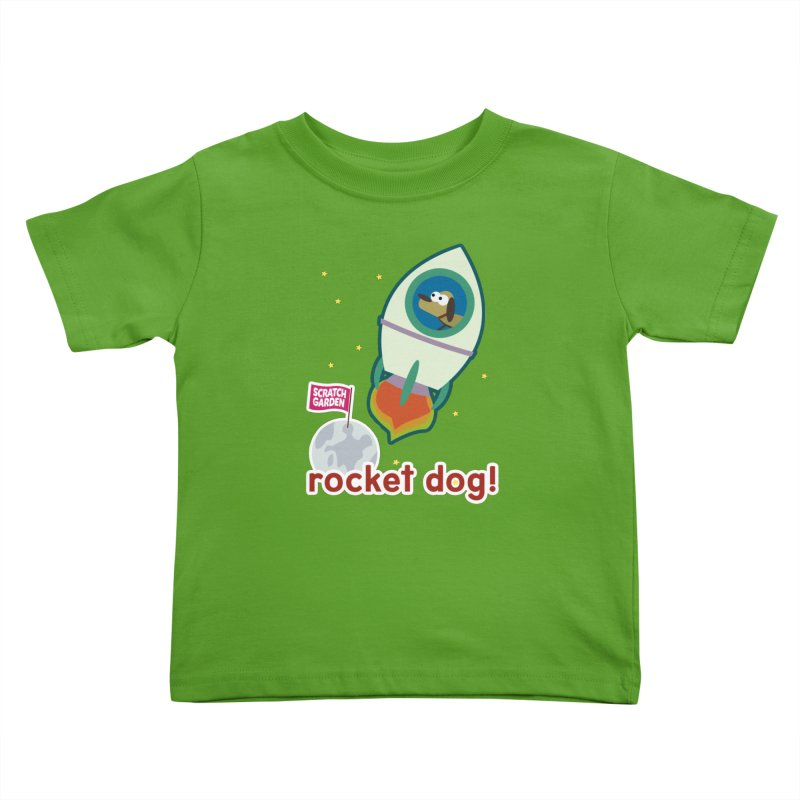 Rocket Dog! Kids Toddler T-Shirt by Scratch Garden!