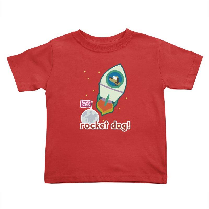 Rocket Dog! Kids Toddler T-Shirt by Scratch Garden!