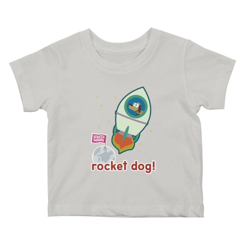 Rocket Dog! Kids Baby T-Shirt by Scratch Garden!