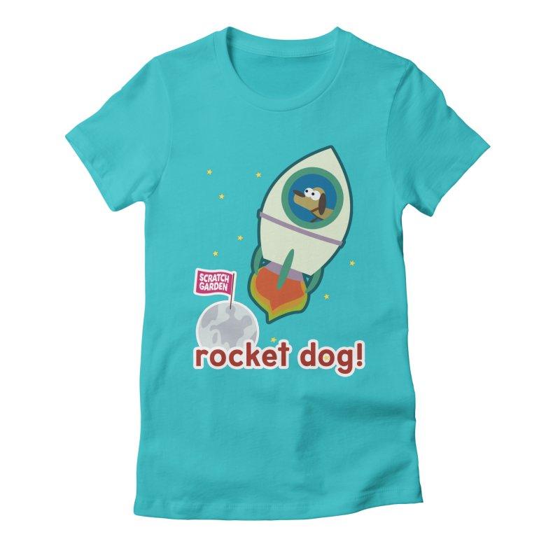 Rocket Dog! Women's Fitted T-Shirt by Scratch Garden!