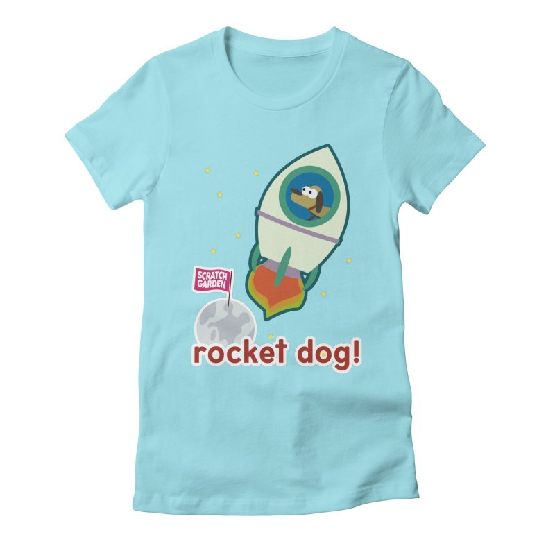 Rocket Dog! Women's Fitted T-Shirt by Scratch Garden!